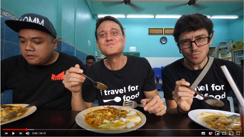 Mark Wiens Travel for Food in Malaysia